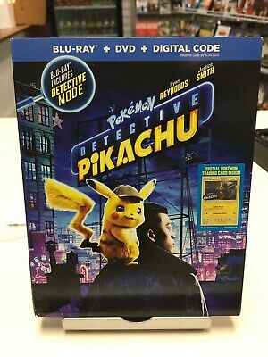 Pokemon: Detective Pikachu (2019, Bllu-Ray, DVD) Ryan Reynolds, Justice Smith