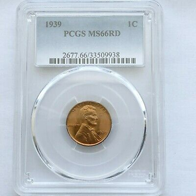 1939-S B//U LINCOLN WHEAT PENNY~1¢~CENT~RED UNCIRCULATED BEAUTY~!