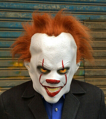 Halloween Cosplay Scary Mask Costume Movie Stephen King's IT Clown Pennywise -US