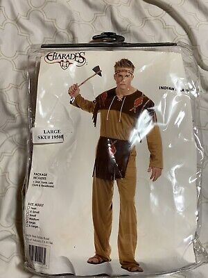 Indian Brave Charades Brand Costume Native American Large Size Mens