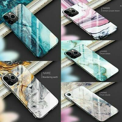 Luxury Marble Tempered Glass Hard Case Protective Cover For iPhone 11 Pro Max