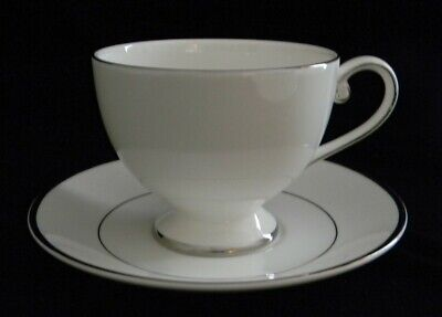 Mikasa Ultima Super Strong Cameo Platinum China Tea Coffee CUP + SAUCER  NEW