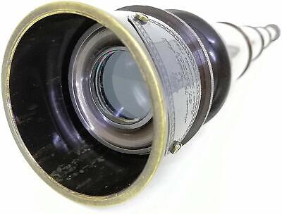 """Nautical Antique Handmade 16"""" Full Brass Telescope with Objective Lens Shade"""