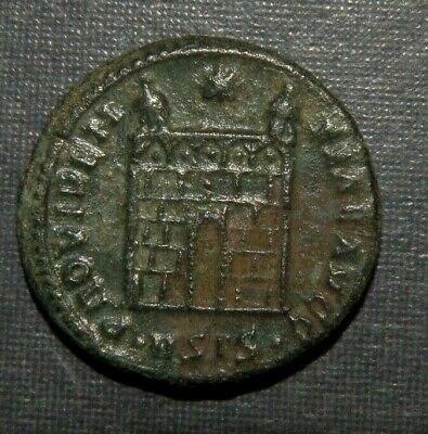 Ancient Coin Roman Bronze Antique 307-337 AD Lot Constantine VF Stars Cross Arch