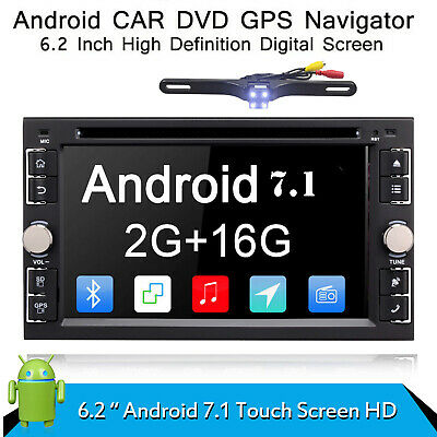 "6.2"" Android 7.1 Car DVD Player GPS Navigation Universal 2Din Car Radio Stereo"