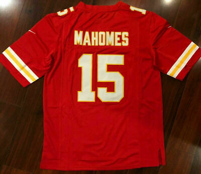Patrick Mahomes #15 Kansas City Chiefs RED Stitched Jersey Brand New NWT