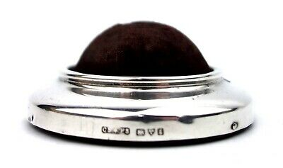 Antique Edwardian Sterling Silver Pin Cushion Chester 1905