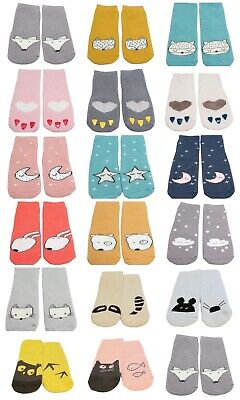3 Pairs Baby Boy Girl Winter Thick Cotton Cartoon Non-slip Grip Socks 6-24M Gift