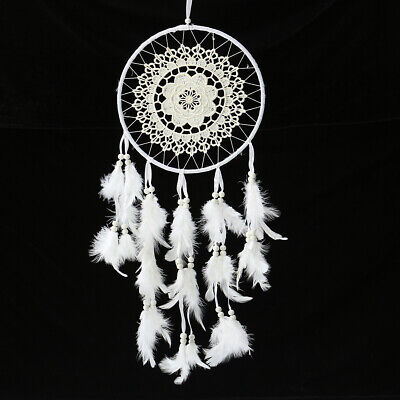 Handmade Dream Catcher White Goose Feather Home Wall Hang Decor Ornament Gift