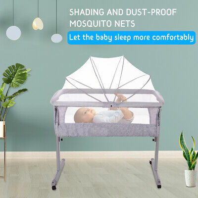 Baby Bassinet Cot Crib Bedside Co Sleeper Infant Newborn Bed w/Mattress Portable