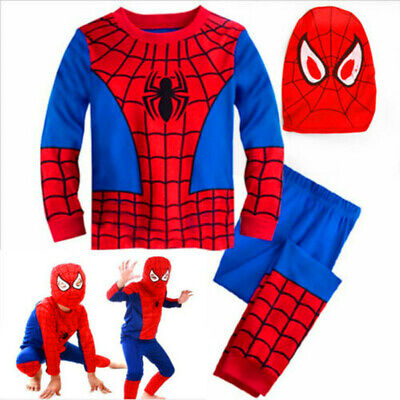 Kids Boys Halloween Super Hero Spiderman Costume Fancy Dress Cosplay Party Gift
