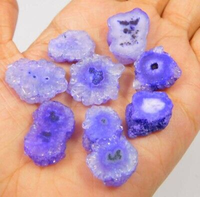 101 Cts. Natural Dyed Blue Baby Solar Druzy Agate Lot Cabochon Gemstone NG8525