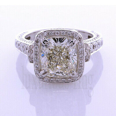 Sapphire Engagement Ring 2.18 Ct Off White Moissanite Party 925 Sterling Silver