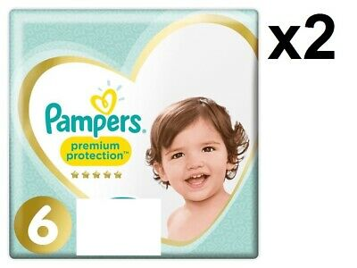 PAMPERS Lot de 80 Couches Premium Protection Taille 6 (13 kg+) Super Absorbant