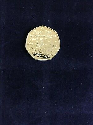 Isle Of Man Coin 50p Com. 2019 Peter Pan Wendy Nana Teach Us To Fly New UNC