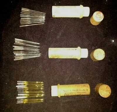Antique Lot Boye Needles 40 Sewing Machine Needles, 3 Cases, Rare Gold Color
