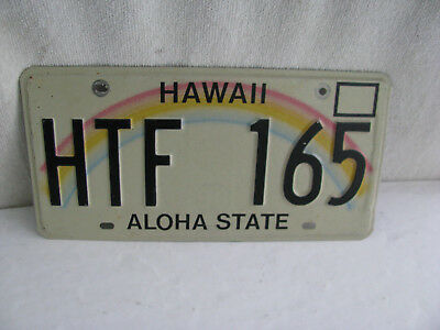 License Plate- Hawaii- more than 3 years old