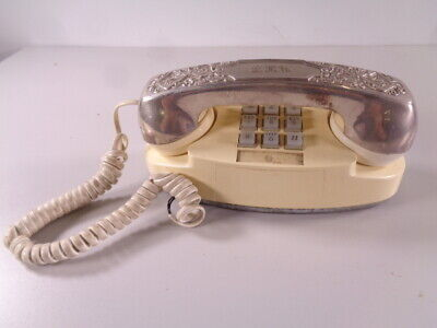 Vintage Western Electric Princess II Phone With Silver Plated Cover