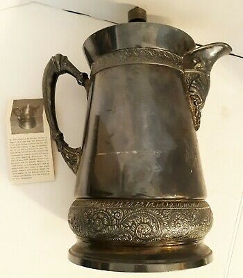 Vintage silver plated ice water pitcher