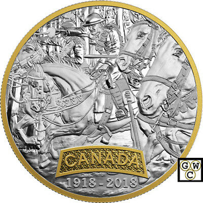 2018 'Canada -First World War Allied Forces' Prf $20 Fine Silver Coin(18515)(NT)