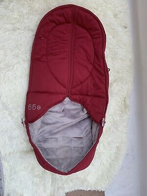 Babystyle Egg Pram/stroller Red Cosey Toes/footmuff