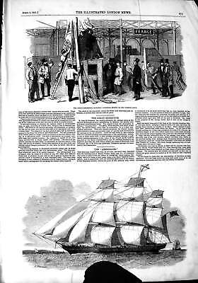 Old Antique Print 1851 Great Exhibition Building Statue Ship Abergeldie 19th