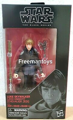 "STAR WARS BLACK SERIES 6"" inch LUKE SKYWALKER JEDI KNIGHT RETURN OF THE JEDI"