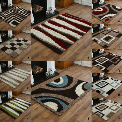 SMALL COSY SHAGGY 5CM HIGH THICK PILE NON SHED NEW 80x150cm RUG SALE LOW PRICES