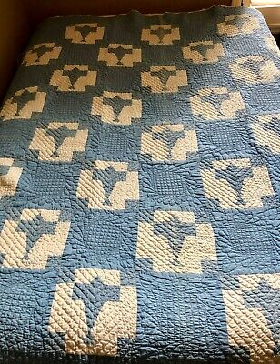 Antique patchwork handmade quilt Spirit of St Louis 1920's Lindbergh Airplane