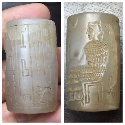 Very Old Sassanian/Sassanid agate cylinder seal