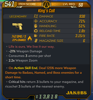 PC - Anointed Fire King's Call - 125% More DMG - Borderlands 3 BL3