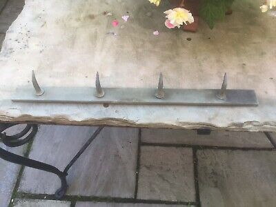Classic Vintage French Butchers Rack/ Hooks / Dent De Loup. 4 Teeth.