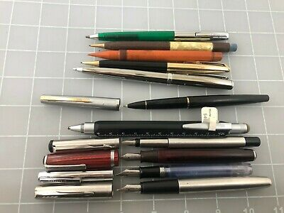 Judd's Lot of 5 Nice Used Fountain Pens Rollerball Pens & Pencils