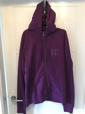 Men's 11 Degrees Purple Zip Tracksuit XL Top M Bottoms