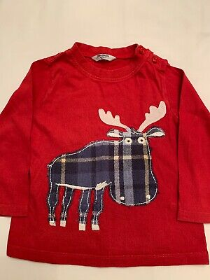 Baby Boden Moose Long Sleeve T-Shirt 12-18 Months in VGUC
