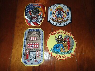 Four FDNY Company Patches