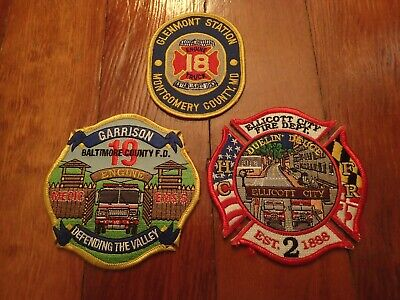 Three Maryland Fire Company Patches