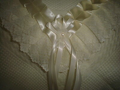 beautiful IVORY baby shawl **NEW** for christening or everyday use