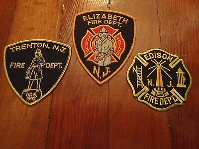Three New Jersey Fire Patches