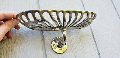 Antique JL Mott Wall Mount Soap Dish Holder Brass Nickel Art Deco Victorian Rare