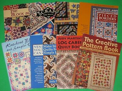 Lot of 8 QUILTING Books by Judy Martin Quilt Patterns Instruction Books