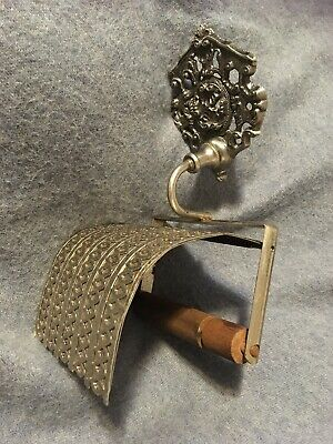 Vintage Antique Victorian Toilet Paper Tissue Holder Cast Iron Accurate Cast