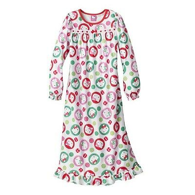 Hello Kitty Dotted Long Sleeve Nightgown - Size 4 NWT Girls