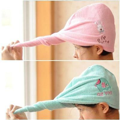Rapid Fast Drying Hair Towel Soft Thick Absorbent Shower Hat Hair Direr Caps UK