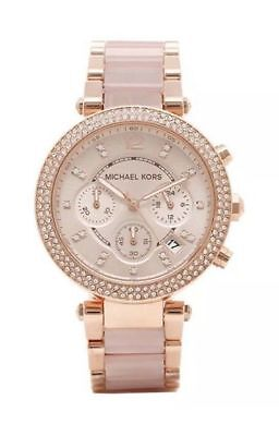 Michael Kors Parker Rose Gold Blush MK5896 Watch for Women Blush Crystal no box
