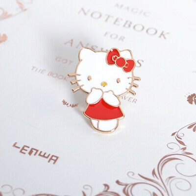 Cute Enamel Hello Kitty Brooch Pin Clothing Bag Hat Badge Brooches Jewelry Gift