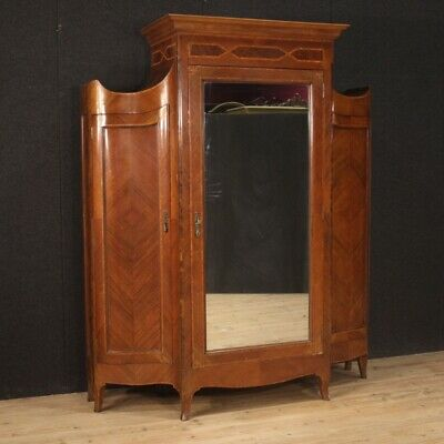 Closet Wardrobe Antique Style Louis XV Furniture 3 Panels Cupboard Camera Wooden