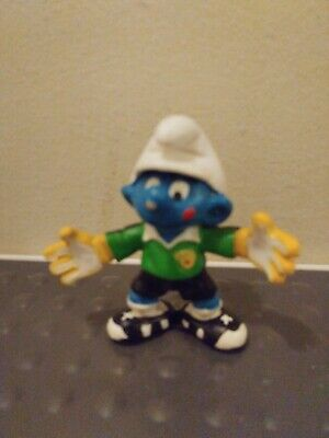 Schleich Smurf Football Soccer Goal Keeper Figure Cake Topper Toy NEW 20808