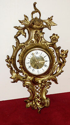 Seltene Antique Solid Brass Fireplace Clock,Wall Clock 50 cm High