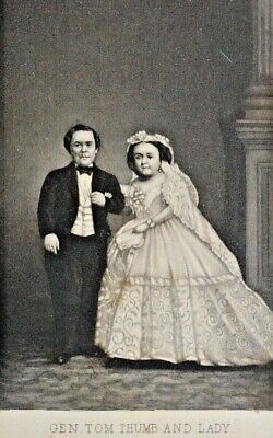 Antique Card General Tom Thumb, and his Lady .Lavinia Warren . 1870's H2